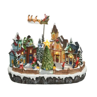 Villaggio Slitta Babbo Natale LED